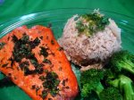 Grilled Chilli & Cilantro Salmon With Ginger Rice