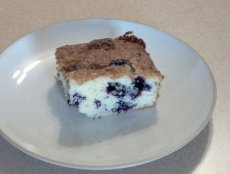 Blueberry Snack Cake With Streusel Topping
