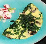 Nif's 1 Ww Pt. Light, Low Fat Mushroom Spinach Omelette (Omelet)