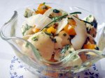 Mushroom and Red Pepper Salad, Chive Vinaigrette
