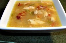 Chicken, Bacon and White Bean Soup Portuguese Style