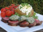 Sacré Boeuf Sirloin Steak Topped With Mustard Herb Butter