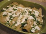 Green Jalapeno and Tomatillo Chicken Enchiladas