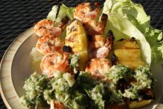 Grilled Coconut Shrimp Kabobs With Island Salsa
