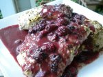 Mustard-Rubbed Pork Loin With Blackberry Mustard Sauce