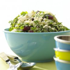 Alouette Crumbled Blue Cheese Pear and Baby Arugula Salad