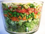 Skinny Bride's Guide to Layered Vegetable Salad