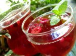 Summertime Raspberry Peach Iced Tea