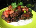 Black Bean Cakes With a Spicy Yogurt Sauce