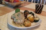 Blue Cheese Stuffed Pork Loin Chops