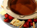 Chocolate-Almond Pudding Fondue