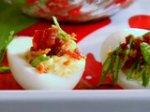 Holiday Horseradish Deviled Eggs