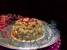 Panna Cotta Brain with Cranberry Glaze