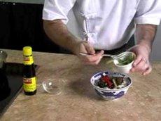 Fried mackerel black beans porridge