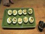 Cheddar Deviled Eggs Appetizer
