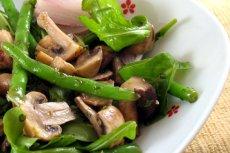 Grilled Lamb, Potato, Bean and Mushroom Salad