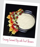 Creamy Caramel Dip with Fruit Skewers