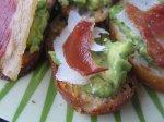 Crisped-Prosciutto and Avocado Crostini Recipe