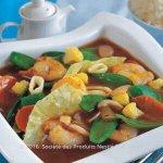 Stir Fried Shrimps and Calamari