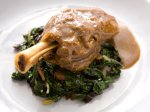 Slow-Roasted Lamb Shanks with Horseradish Jus