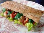 Spicy Thai Peanut Shrimp Salad Sandwich
