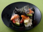Smoked Salmon and Avocado Hand Roll with Quinoa