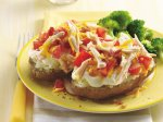 Chicken and Tomato Topped Potatoes