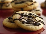 Raspberry Topped Macaroon Cookies
