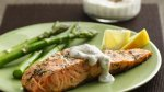 Grilled Salmon with Lemon-Dill Sauce