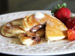 Chocolate-Stuffed Pancakes