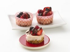 Triple-Berry Mini Cheesecakes (Gluten Free)