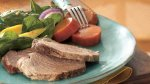Slow Cooker Brown Sugar-Topped Pork with Sweet Potatoes