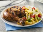 Grilled Garlic, Lemon and Pepper Butterflied Chicken
