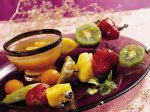 Winter Fruit Kabobs with Peach Glaze