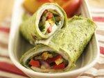 Healthified Veggie-Ranch Turkey Wraps