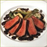Grilled Niman Ranch Sirloin Steak with Tapenade, Roasted New Potatoes and Baby Leeks Recipe