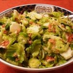 Warm Brussles Sprouts Salad with Almonds and Parmesan Recipe