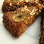 (Almost) Low Fat Chocolate and Banana Oat Cake Recipe