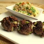 Moroccan Lamb Kabobs with Chickpea and Apricot Couscous Recipe