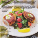 Maine Crab Cakes with Watercress and Strawberry Salad Recipe