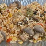 Mushroom and Fried Corn Rice Recipe