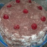 Eggless Whole Wheat Black Forest Cake Recipe