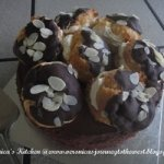 Marble Cake Topped with Profiteroles Recipe