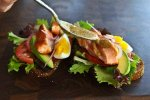 Open Face Salmon Sandwich with Sweet Mustard Sauce Recipe
