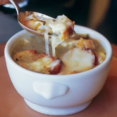 Riesling Onion Soup with Herbed Croutons Recipe