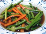 Stir fry Chinese Leek Flower with Oyster Sauce Recipe