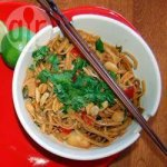 Warm Asian noodle salad