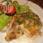 Chicken and Mushrooms in a White Wine Sauce