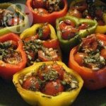 Mediterranean Stuffed Baked Peppers