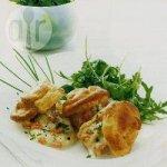 Seafood choux puffs